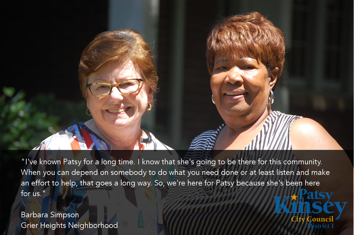 Barbara Simpson endorses Patsy Kinsey