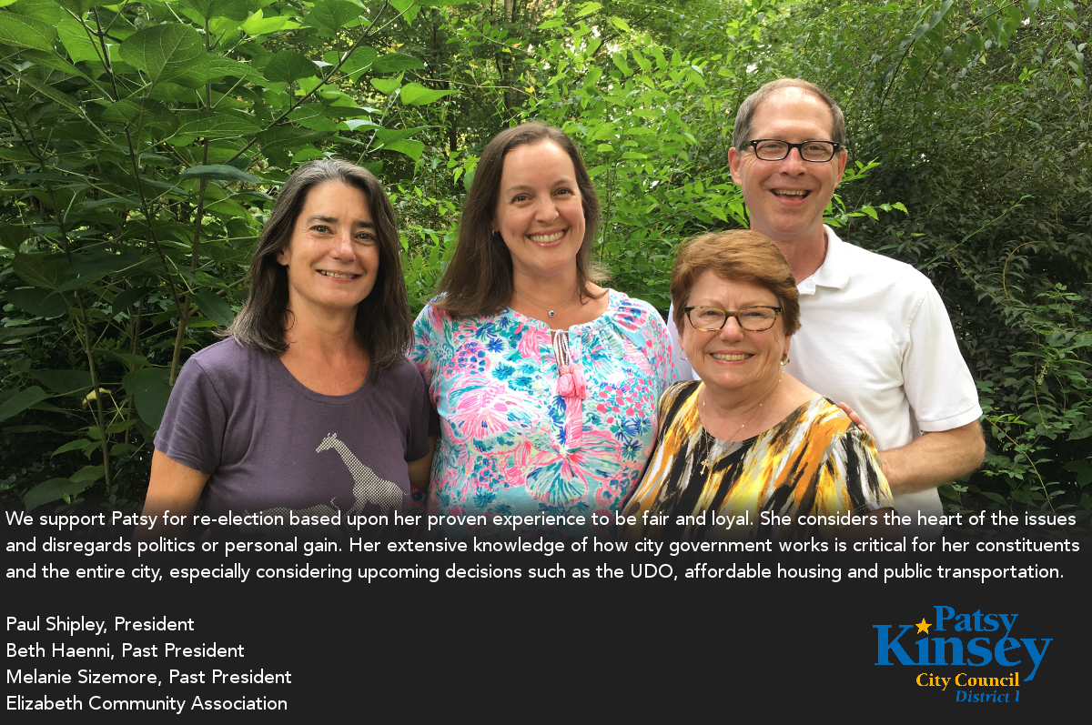 Paul Shipley, Beth Haenni, Melanie Sizemore endorse Patsy Kinsey