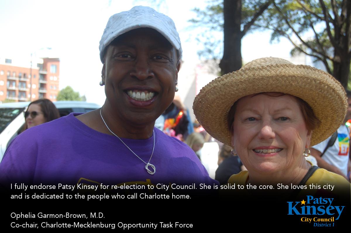 Dr. Ophelia Garmon-Brown endorses Patsy Kinsey