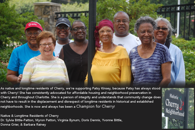 Longtime Cherry Residents endorse Patsy Kinsey