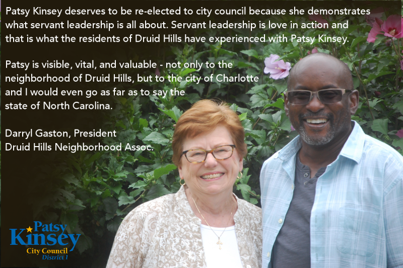Darryl Gaston endorses Patsy Kinsey
