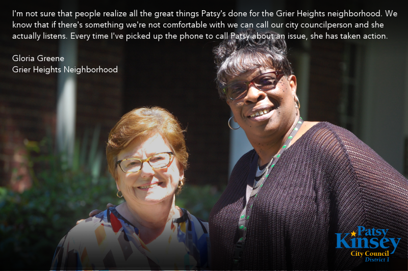 Gloria Green endorses Patsy Kinsey