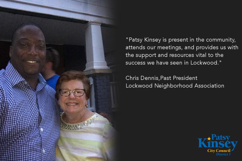 Chris Dennis endorses Patsy Kinsey