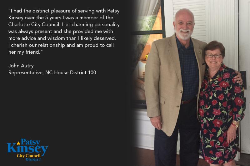 John Autry endorses Patsy Kinsey