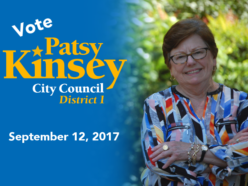 Vote Patsy Kinsey September 12